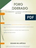 FORO MODERADO. servicios de salud.pptx