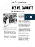 montagues vs  capulets newspaper article