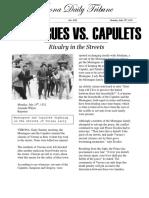 montagues vs  capulets newspaper article