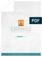 AcuMesh Wireless RS485 Network User Manual