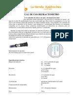 Manual Refractometro