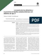 Asociación Entre El Precio de Los Alimentos y La Glucemia en Adultos Estadounidenses Con Diabetes Tipo 2- Carlos Mamani Puma