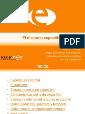 Texto Expositivo Ppt Lengua Española Comunicación