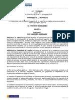 Ley 1715 de 2014 Integración de Energías Renovables