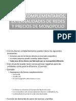 Bienes Complementarios, Externalidades de Redes y Precios