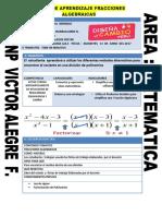 Sesion Simplificacion de Fracciones Algebraicas