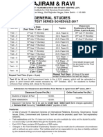 GS Main Test Series 2017 Details June 17