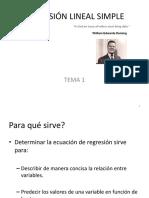 Tema 1, 2, 3 - Regresión Lineal