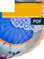 Audit Data Export Analytics Administration Tool