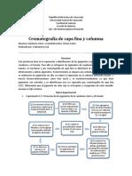 Informe de Cromatografía de Capa Fina y Columna