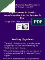 "2017-06-13 Zernik, J. ""E-government in Israel"