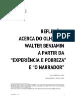 """Reflexões acerca do olhar de Walter Benjamin a partir da """"Experiência e Pobreza"""" e """"O Narrador"""""""
