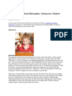 Comparing Preschool Philosophies
