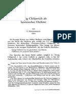 Konig Chilperich Als Lateinischer Dichter Von U. KINDERMANN