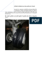 Malaysia B738 at Jakarta on Jun 13th 2017, burst tyre on landing