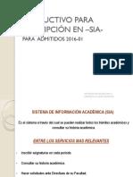 IMPORTANTE Inscripcion de Materias en El Sia