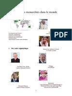Liste Des Monarchies Dans Le Monde