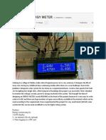 Energi Meter Solar Panel