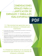 11. Recomendaciones Generales Para La Planificación de Empaques y Embalajes Para Exportación