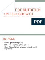 Effect of NUTRITION on Fish Growth