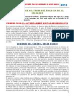 Segundo Año de Bachillerato Estudios Sociales Material de Lectura Militarismo en El Salvador
