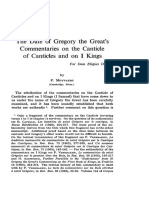 The Date of Gregory the Great's Commentaries on the Canticle of Canticles and on I Kings for Dom Eligius Dekkers by P. MEYVAERT