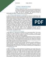 Resumen Etica y Deontologia