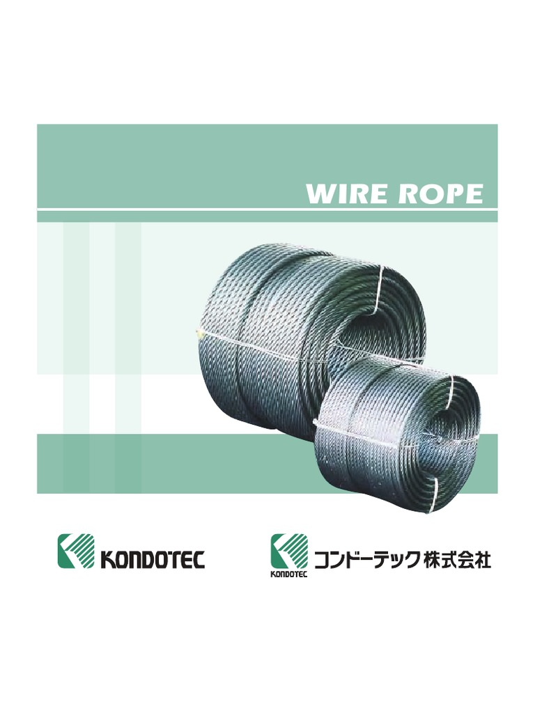 Kondotec Wire Rope Catalog | Rope | Wire