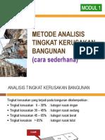 Analisis Kerusakan Bangunan Menurut Dapodik