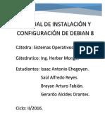 Manual de Instalación y Configuración de Debian 8
