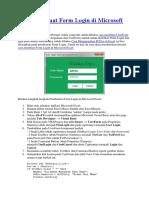 Cara Membuat Form Login Di Microsoft Excel