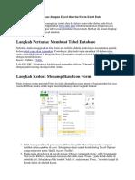 Cara Membuat Database Dengan Excel Disertai Form Entri Data
