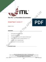 ITIL V3 Sample