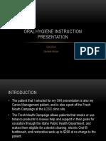 oral hygiene instruction presentation danielle wilson