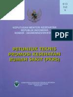 Kepmenkes RI Tentang Petunjuk Teknis Promosi Kesehatan Rumah Sakit (PKRS)
