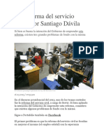 La Reforma Del Servicio Civil