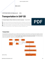 Explain Transportation in SAP SD