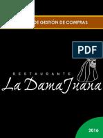 Análisis de Gestión de Compras Restaurante La Dama Juana