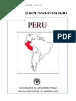 Perfil Nutriconal en El Perú
