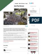 [Fotos] Colocolinos repletaron Plaza Italia para celebrar el título