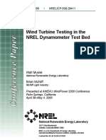 Wind Turbine Testing in the NREL Dynamometer Test Bed 28411