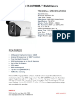 Specifications Hikvision DS-2CE16D0T-IT1 Bullet Camera