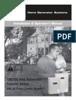 Manual Instalacion y Operacion Ats Mod.071019