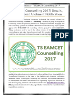 TS EAMCET Counselling