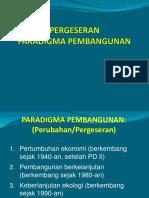 1c-Pergeseran Paradigma Pembangunan