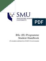 BSc is Handbook AY2015-2016 Onwards