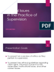 Ethics in Supervision