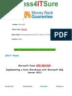 New Pass4itsure Microsoft 070-464 PDF Dumps - Developing Microsoft SQL Server 2012 Databases
