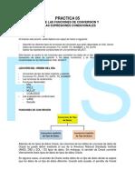 Practica 05 - Funciones de Conversion y Expresiones Condicionales-K!