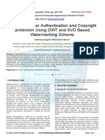 Achieving better Authentication and Copyright protection Using DWT and SVD Based Watermarking Scheme